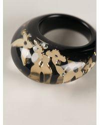 Louis Vuitton - Black Resin Ring - Lyst