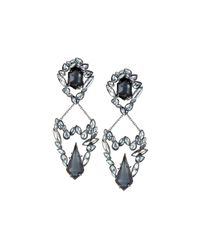 Alexis Bittar | Metallic Chandelier Clip Earrings W/ Rhinestones | Lyst