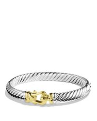 David Yurman | Metallic Cable Buckle Bracelet In Gold | Lyst