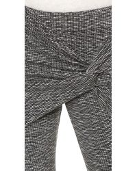 Thakoon Addition - Twist Front Pants - Black/white - Lyst