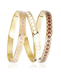 Astley Clarke - Metallic Cappuccino Honeycomb Bangle - Lyst