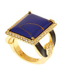 Rachel Zoe | Blue Gold-plated Lapis Ring | Lyst