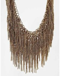 ALDO | Metallic Coney Chain Drape Collar Necklace | Lyst