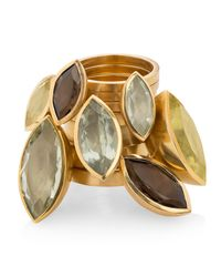 Ilene Steele Jewellery | Metallic Medium Marina Ring Lemon Quartz | Lyst