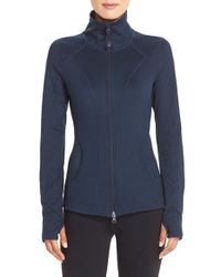 Zella | Blue Stand-Collar Sports Jacket  | Lyst
