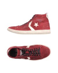 Converse CONS - Red High-tops & Trainers for Men - Lyst