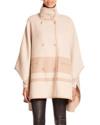 Vince - Natural Blanket-Striped Cape Coat - Lyst