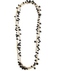 Rosantica | Black Bead And Chain Necklace | Lyst