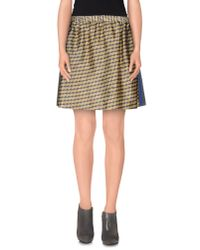 Alice San Diego - Yellow Mini Skirt - Lyst