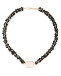 Isabel Marant - Black Square Stone Necklace - Lyst
