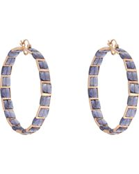 Nak Armstrong | Purple Women's Gemstone Hoops | Lyst