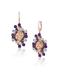 Le Vian | Multicolor Crazy Semi-precious, Multi-stone And 14k Strawberry Gold Drop Earrings | Lyst