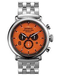 Shinola - Metallic 'the Runwell Chrono - Sport' Bracelet Watch - Lyst