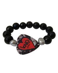 Electric Picks - Black Strange Love Bracelet - Lyst