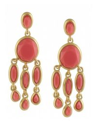 Karen Kane | Orange Baja Chandelier Earrings | Lyst