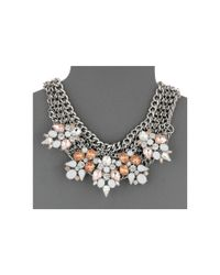 Guess - Metallic Clustered Stones On Multi Chain Necklace - Lyst