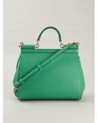 Dolce & Gabbana - Green Sicily Medium Calf-Leather Tote - Lyst
