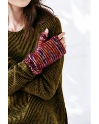 Urban Outfitters - Purple Cozy Plush Spacedyed Armwarmer - Lyst