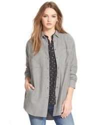 Madewell | Gray 'sunday' Flannel Shirt | Lyst
