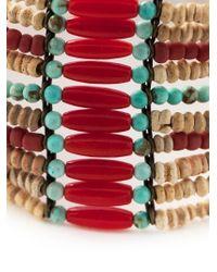 Isabel Marant - Natural Multi-Strap Beaded Bracelet - Lyst