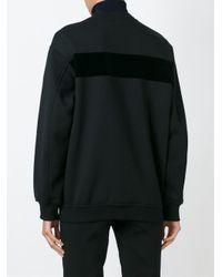 T By Alexander Wang - Black Velvet Logo Patch Sweatshirt - Lyst