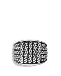 David Yurman - Metallic Maritime Rope Wide Three-Sided Ring for Men - Lyst
