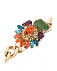 Anton Heunis | Metallic Chain Swarovski Crystals Bracelet | Lyst