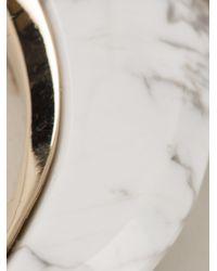 Roberto Cavalli - Metallic Tooth Pendant Necklace - Lyst