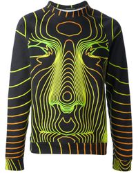 Christopher Kane | Green Face Digital Printed Sweatshirt for Men | Lyst