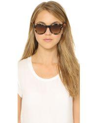 Fendi | Green Classic Frame Sunglasses | Lyst
