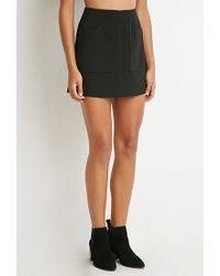 Forever 21 - Black Pocket Mini Skirt - Lyst
