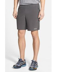 Patagonia - Gray 'nine Trails' Stretch Woven Running Shorts for Men - Lyst