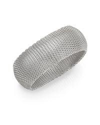Saks Fifth Avenue | Metallic Silvertone Mesh Cuff Bracelet | Lyst