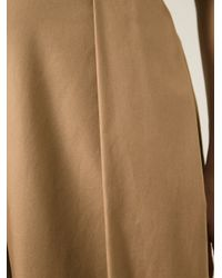 N°21 - Brown Pleated Culottes - Lyst