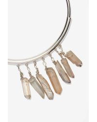 Nasty Gal | Metallic Crystal Clear Collar Necklace | Lyst