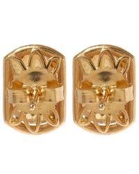 Suzanne Kalan - Metallic Gold Topaz Barrel Champagne Diamond Earrings - Lyst