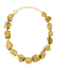 Panacea - Metallic Golden Nugget Collar Necklace - Lyst