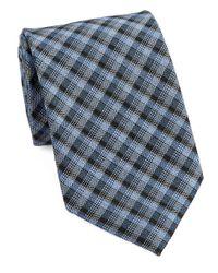 William Rast | Blue Textured Plaid Tie for Men | Lyst