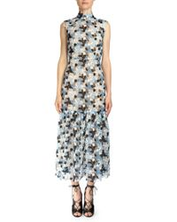 Erdem - Blue Kiristina Guipure Lace Midi Dress - Lyst