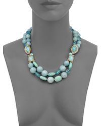Alexis Bittar - Blue Elements Gilded Muse D'Ore Amazonite & Crystal Double-Strand Necklace - Lyst