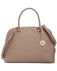 DKNY - Natural Bryant Park Saffiano Round Satchel - Lyst