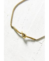 Urban Outfitters | Metallic Hampton Knot Necklace | Lyst