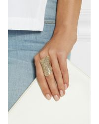 Lynn Ban | Metallic 14-Karat Gold Diamond Ring | Lyst
