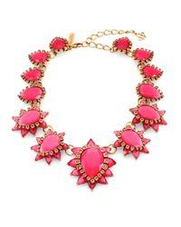 Oscar de la Renta | Pink Bold Jewel Necklace | Lyst