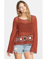 Volcom - Brown 'vibe Tribe' Sweater - Lyst