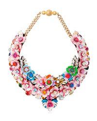 Shourouk | Pink Botanica Necklace | Lyst