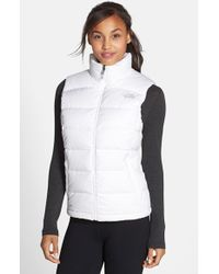 1233bb909b7f The North Face Nuptse 2 Down Vest in White - Lyst