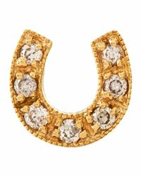 Sydney Evan | Metallic 14k Mini Starburst Single Stud Earring With Diamonds | Lyst