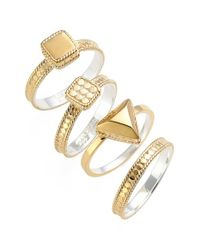 Anna Beck - Metallic Stackable Rings - Lyst