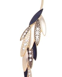 Oasis | Multicolor Asymmetric Feather Open Torc | Lyst